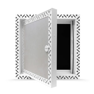 Plasterboard door access panel - fire rated