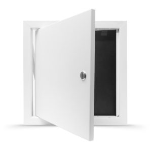 Economy Steel Access Panel Finished in RAL9016 White Powdercoat